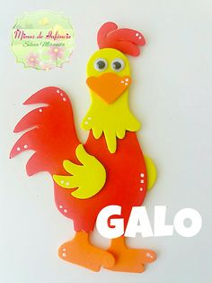 Mimos de Infância #gomaeva Farm Animals Preschool, Preschool Crafts, Easter Crafts, School Board Decoration, School Decorations, Foam Crafts, Diy And Crafts, Arts And Crafts, Hand Crafts For Kids