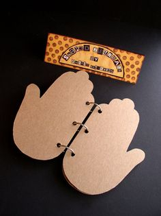 Handmade shaped Journal - Hand Book