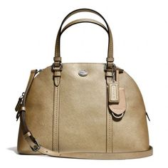 Women's Top-Handle Handbags - Coach 25671 Peyton Gold Cora Leather Domed Satchel Handbag 25671 * Visit the image link more details.