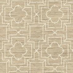 56 sq. ft. Ashford Geometrics Irongate Trellis Wallpaper, Shades Of Beige/Ivory