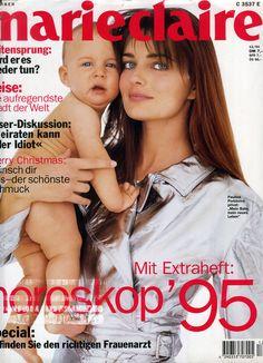 Paulina Porizkova - Marie Claire German Dec 1994 by Robert Erdmann