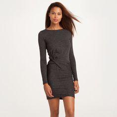 Gedrapeerde jurk met lange mouwen