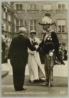 Christian X of Denmark and queen Alexandrine