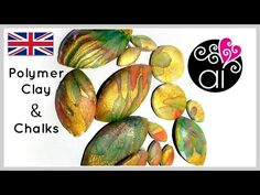 Polymer Clay Tutorial | Chalk Pastels , Cernit Translucent and Golden Leaf | ENG - YouTube