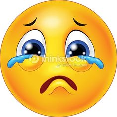 Vector Art : Cartoon emoticon crying