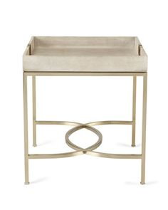 356 126 Jet Set Round End Table | Bernhardt Dia 28 H 25.5 Crocodile  Embossed Leather Top Brass Plated $1132.50 #2Foot | Side Tables | Pinterest  | Tables