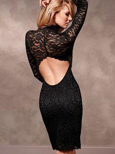 Open-Back Lace Dress