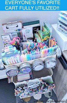 64+ ideas craft room organization cart #craft