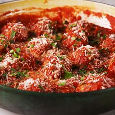 These meatballs don t have any bread crumbs and hold together with a little help from ricotta and Parmesan They are light and airy with tons of flavor and the sauce brings it all together Get the recipe at Italian Turkey Meatballs, Ground Turkey Meatballs, Recipe For Turkey Meatballs, Turkey Meatball Sauce, Healthy Meatballs, Jelly Meatballs, Meatball Recipes, Meat Recipes, Chicken Recipes