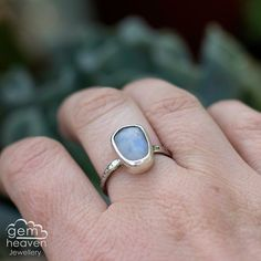 Sterling silver and Rose Cut Moonstone by gemheavenjewellery