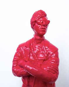 Available: 'The Warhol Affect' is a pop art sculpture by contemporary artist Jonathan van der Walt, size 8 x Secure online purchase & delivery to door. Warhol, Contemporary Artists, Sculpture Art, Pop Art, Leather Jacket, Pink, Stuff To Buy, Fashion, Studded Leather Jacket