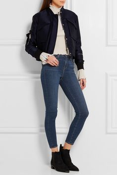 L'Agence - The Margot Cropped Mid-rise Skinny Jeans - Mid denim - 23