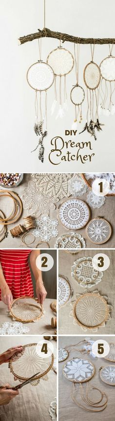 13 Ways to DIY Happiness at Home - how to easily make this #DIY Dream Catcher