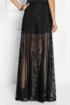 black lace skirt - Google Search