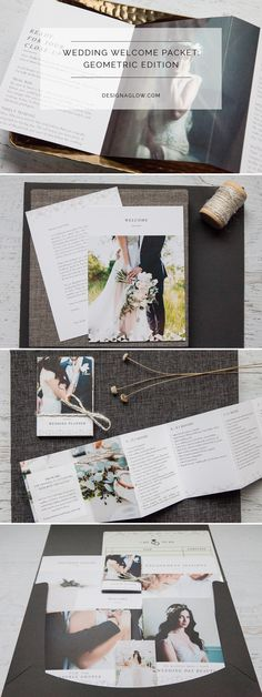 Wedding Welcome Packet: Geometric Edition