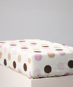 This Pink & Chocolate Baby Love Crib Sheet by New Arrivals is perfect! #zulilyfinds