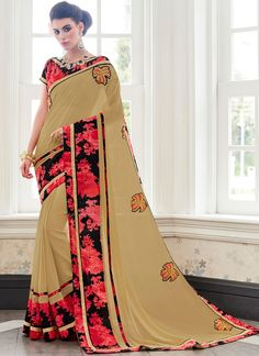 Charismatic Faux Georgette Saree
