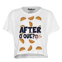 After o que? Nada mejor que unos taquitos para terminar la noche! Más diseños como este en http://quiubolee.tienda/disenos #quiubolee #after #tacos #cropshirt #emojis