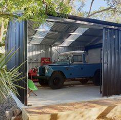 Car Storage, Garage Storage, Land Rover Series 3, Best 4x4, House By The Sea, Man Cave Garage, Garage Design, Train Car, Land Rovers