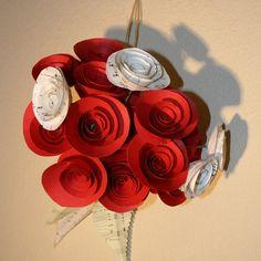 Wedding centerpiceBouquet Paper flowers  Handmade  by jbart, $30.00