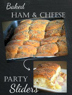 Ham and Cheese Sliders | Recipe | Poppy Seed Dressing, Ham And Cheese ...