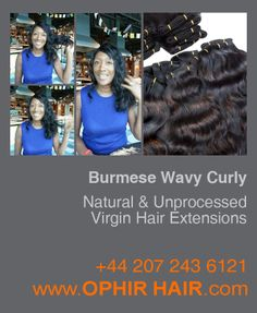 Burmese Wavy Curly natural and unprocessed virgin hair
