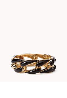Chain Patterned Hinge Bracelet | FOREVER21 - 1042444531