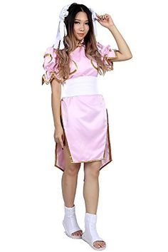 Street Fighter II Cosplay Pink Fighting Outfit + Head Dress for Chun Li 3rd Ver  * High quality product, 100% brand new, never been used * Material: Cotton, Polyester, Satin * Include: One Piece Dress, Headdress, Waist Band. ** Shoes not included ** * Product size may different from the standard US size. Please choose the size accordingly. * Item location: China. ETA: standard shipping 10-15 days; expedited shipping 3-6 days.    Kids Size Chart: XXXXXX-Small / Kid Small:  Height 130c..