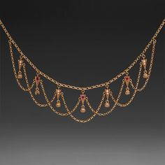 Ruby Lavaleir Necklace