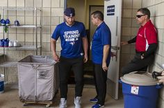 https://flic.kr/p/S6eSbX | Josh Donaldson limps to meet the media after straining his calf.