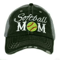 Softball Mom baseball trucker cap