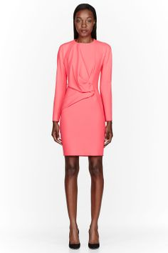 CEDRIC CHARLIER Pink Draped front Dress