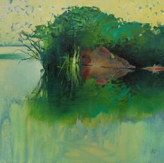 Painter's Process - Randall David Tipton: Slow Water Study
