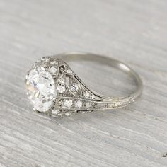 Obviously this one's ridiculous but why is it so hard to find vintage settings that I actually like?   2.03 Carat Vintage Engagement Ring