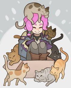 Kitties Do Love Boxes by Splashbrush