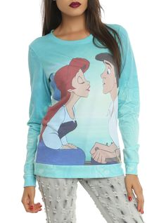 Disney The Little Mermaid Kiss The Girl Girls Pullover Top | Hot Topic