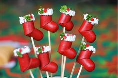 Hotdog Christmas Stockings - Creative Christmas Food Ideas