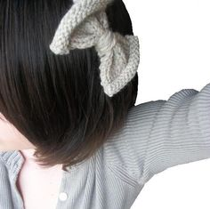knit bow headband  by the shore  Hand Knit by StitchesandHearts,