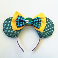 Mad Hatter Disney Inspired Ears, Mad Hatter Mickey Ears, Alice in... ($32) ❤ liked on Polyvore featuring accessories