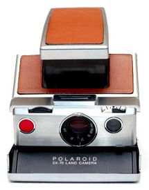 POLAROID: FOLDING TYPE SX-70  Considered Dr Land's masterpiece, a truly revolutionary invention in many ways. Produced from 1972+, the SX-70 was the first foldable SLR camera & the first Polaroid camera to use Time Zero integral film with its iconic broad white frame.  MODELS:  SX-70, SX-70 Model 2, SX-70 Model 3, SX-70 Alpha 1, SX-70 Sonar OneStep, SX-70 Alpha 1 Executive, Supercolor AutoFocus, SX-70 Alpha 1 Model 2, TimeZero SX-70 AutoFocus, SX-70 Executive, TimeZero SX-70 AutoFocus Model…