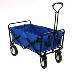Folding Outdoor Utility Cart  https://bobbiejosonestopshop.com  #BobbieJosOneStopShop #Beach #Wagon #UtilityCart #Buggy #Folding #Collapsible #Outdoor #Gardening #Blue #Camo