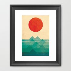 The ocean, the sea, the wave Framed Art Print by Budi Satria Kwan - $37.00