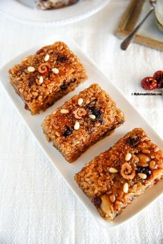 Easy version of korean dessert yakwa which is baked instead of fried korean sweet rice with dried fruit and nuts korean food recipesrice forumfinder Images