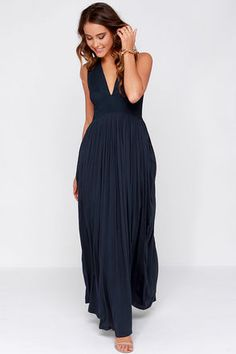 LULUS Exclusive In Your Dreams Navy Blue Maxi Dress at Lulus.com!