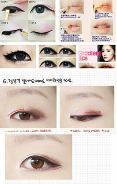 Korean makeup *at least the bottom part is Korean Gyaru Makeup, Ulzzang Makeup, Asian Makeup Tutorials, Korean Makeup Tips, Makeup Shop, Diy Makeup, Beauty Makeup, Makeup Ideas, Asian Makeup Looks