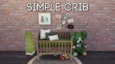 Simple Crib at Dri4na • Sims 4 Updates