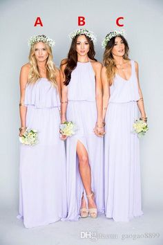 2016 Lavender Chiffon Long Bridesmaid Dresses Ruffles Mumu Bohemian Floor Length Summer Beach Wedding Party Evening Dresses Bridesmaid Dress Bridesmaid Dresses With Sleeves Floral Bridesmaid Dresses From Gaogao8899, $62.42| Dhgate.Com