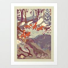 Fisher Fox Art Print by Teagan White - $17.00