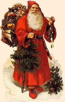 Send Christmas Cards, Old Christmas, Christmas Scenes, Victorian Christmas, Father Christmas, Christmas Deco, Beautiful Christmas, Vintage Santa Claus, Vintage Santas