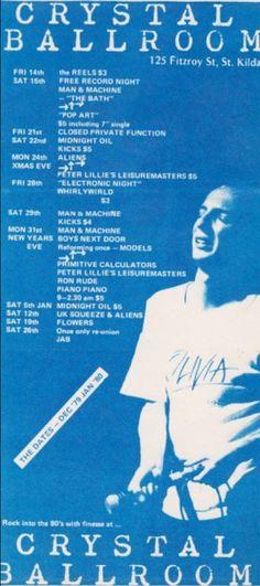 Midnight Oil: MIDNIGHT OIL - 22 Dec 1979 - Crystal Ballroom, Mel...
